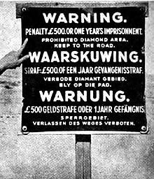 Sperrgebiet warning sign from the 1940s